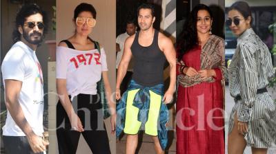 Bollywood celebrities like Varun Dhawan, Malaika Arora, Vidya Balan, Shraddha Kapoor, Twinkle Khanna, Harshvardhan Kapoor and other were spotted in the city of dreams, Mumbai. (Photos: Viral Bhayani)
