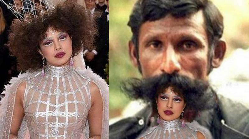 Priyanka Chopra's look for Met Gala 2019 becomes hot topic for memesters. (Photo: Twitter)