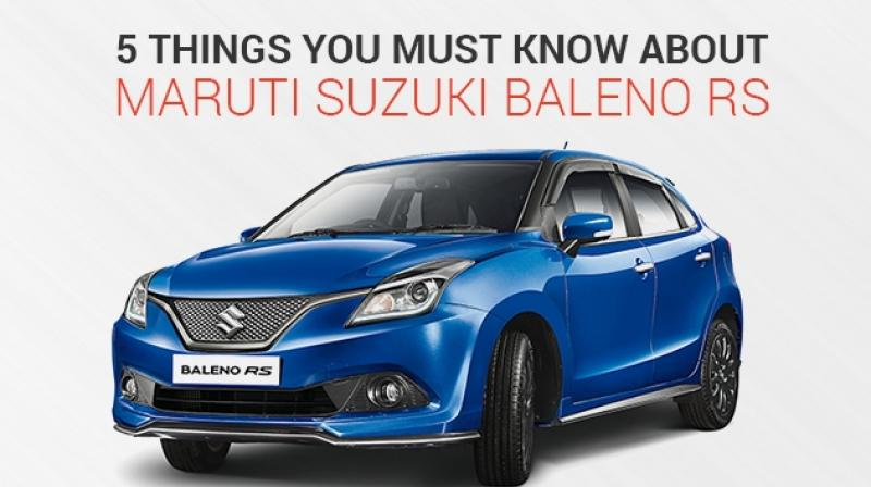 5 Things you should know about Maruti Suzuki Baleno RS