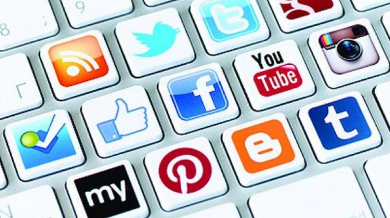 The eastern part of the country has the lowest proportion of users across all the social media platforms