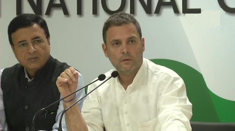 Rahul Gandhi demanded an investigation against Prime Minister Narendra Modi. (Photo: Twitter | ANI)