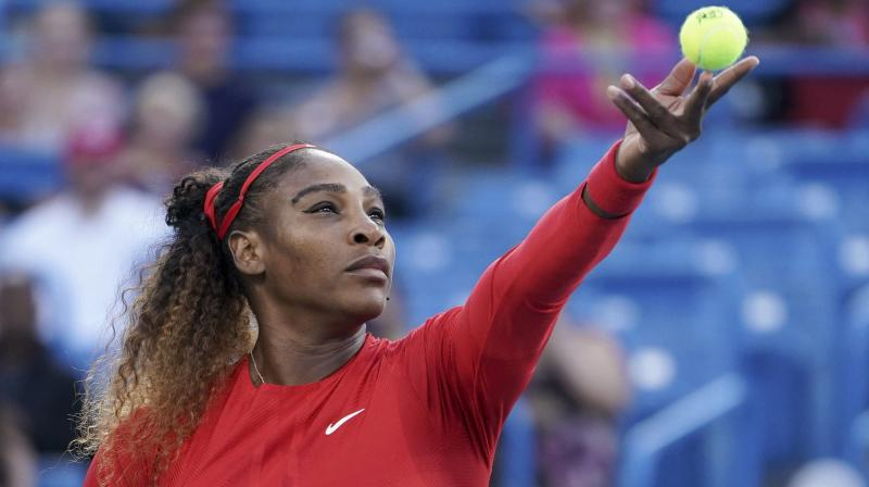 The 36-year-old was all business Monday as she cleaned up on Australian Gavrilova, with Williams winning an 11th straight match here.(Photo: AP)
