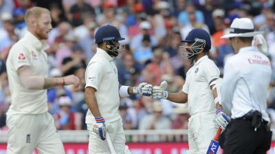 Virat Kohli and Ajinkya Rahane stitched a massive century partnership to put the pressure back on England. (Photo: AP)