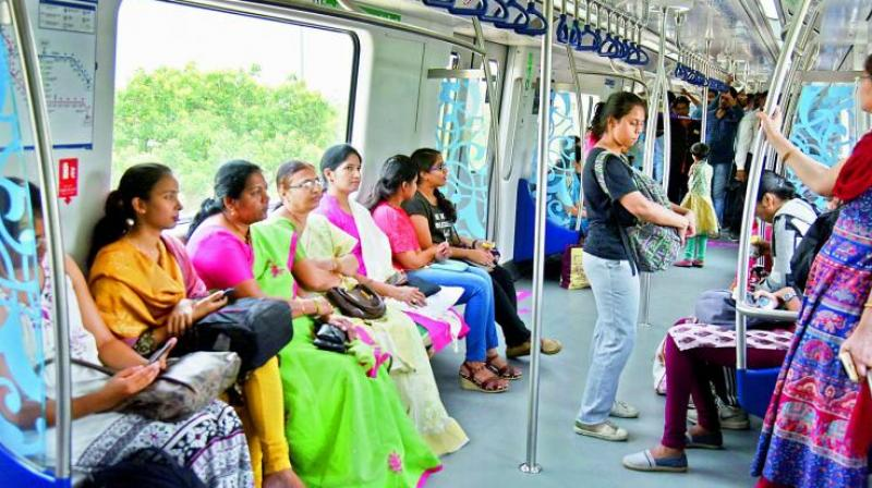 Mr Reddy said that the Hyderabad Metro Rail is the first organisation in the country, and perhaps even in the world, to have set up the all-female managed station at Madhuranagar. (Photo: DC)