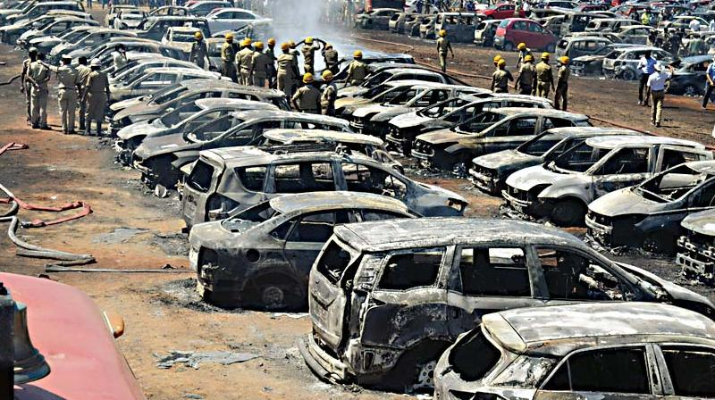 Tragically claiming the life of an ace pilot a day before the inauguration, and a shocking blaze in a parking lot that gutted some 300 cars.