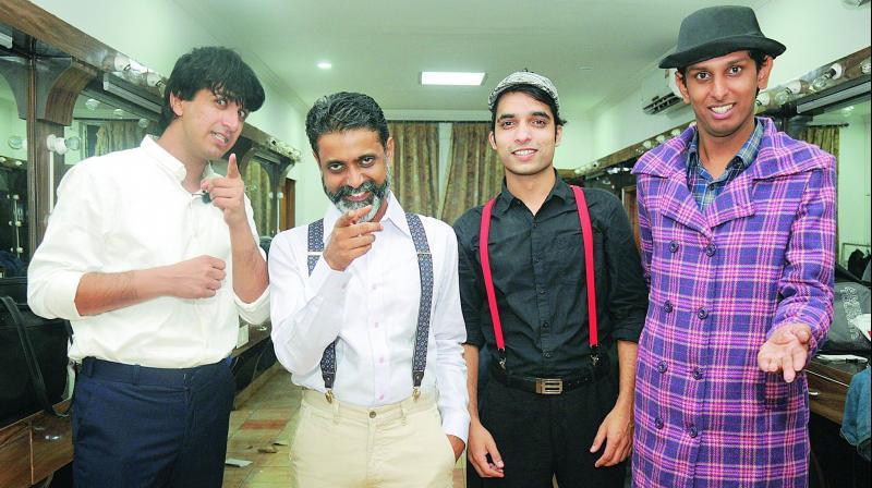 Team Shamus: Dwij Vasawada, Jonas David, Lavpreet Soni and Srinivas Malyala