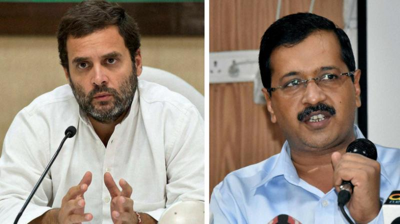 Gandhi tweeted, 'Delhi CM, sitting in dharna at LG office. BJP sitting in dharna at CM residence. Delhi bureaucrats addressing press conferences. PM turns a blind eye to the anarchy; rather nudges chaos and disorder. People of Delhi are the victims, as this drama plays out.' (Photo: PTI)