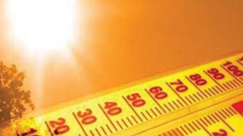 The highest temperature recorded in Hyderabad so far this year in Hyderabad was 42.5ºC, and Adilabad topped the state with 44.8°.
