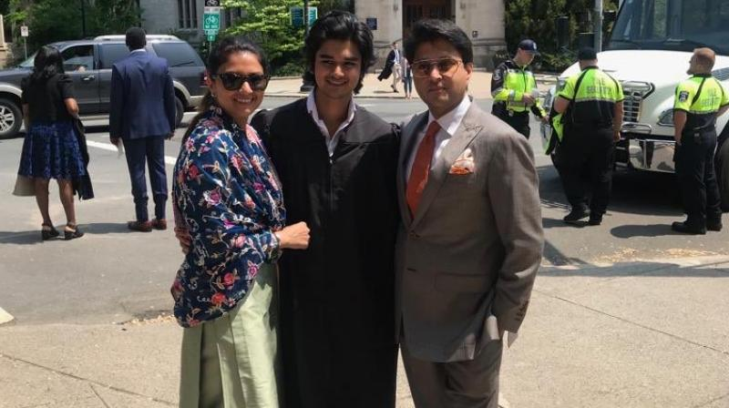 The 23-year-old, Mahanaryaman Scindia graduated from Yale University in the US. (Photo: Twitter)