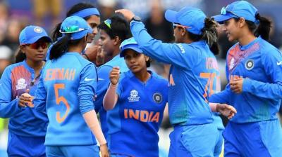 India becomes the first team to enter the semi-finals. Picture courtesy:Twitter