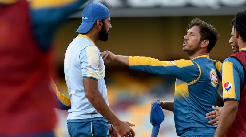 Yasir posted a photo of him and Wahab on twitter. (Photo: AFP)