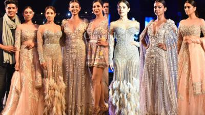 Manish Malhotra unveiled his summer couture 2018 in Pune on Saturday where Radhika Apte, Aditi Rao Hydari, Nushrat Bharucha and Sophie Choudry were the star attractions.