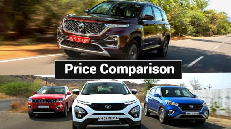 All the three mid-size SUVs are powered by the same 2.0-litre diesel engine built by Fiat, although in different states of tune.