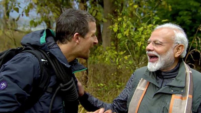 The show, Man vs Wild, will be premiered on August 12 and will be showcased in more than 180 countries across the world on Discovery network channels. (Photo: ANI)