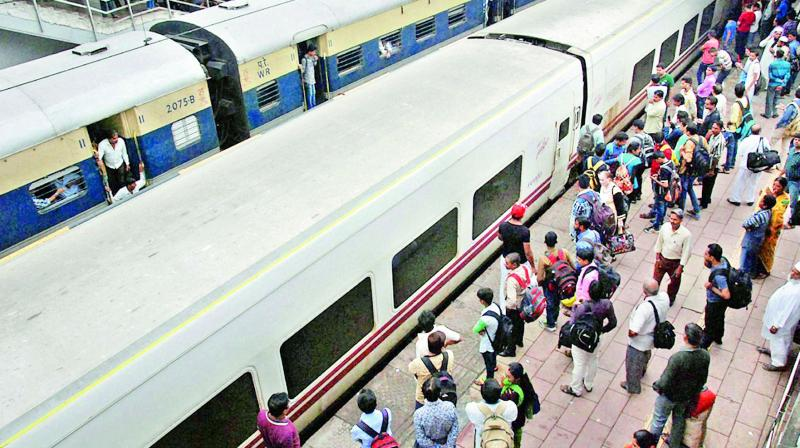 A railway platform in Surat that might be leased out