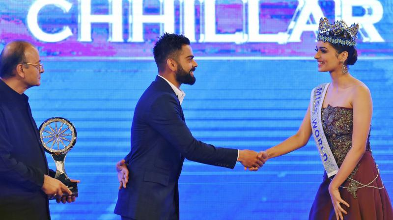 At a recent award function, Miss World Manushi Chhillar asked the India talisman about how he continues to inspire many. (Photo: PTI)