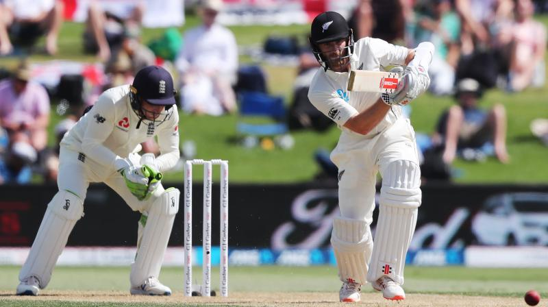 Neil Wagner broke an important 52-run partnership between Jos Buttler and Jack Leach as New Zealand wrapped up England's innings shortly after lunch on the second day of the first test at Bay Oval on Friday. (Photo:AFP)