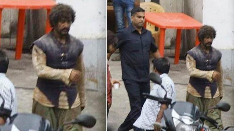 Aamir Khan snapped on the sets of 'Thugs of Hindostan' in Mumbai. (Photo: Twitter)