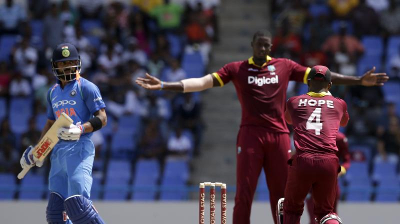 Jason Holder spearheaded the West Indian bowling attack with a five-wicket haul. (Photo: AP)