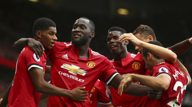 Romelu Lukaku was the star of the night, scoring a brace on his Manchester United debut. (Photo: AP)