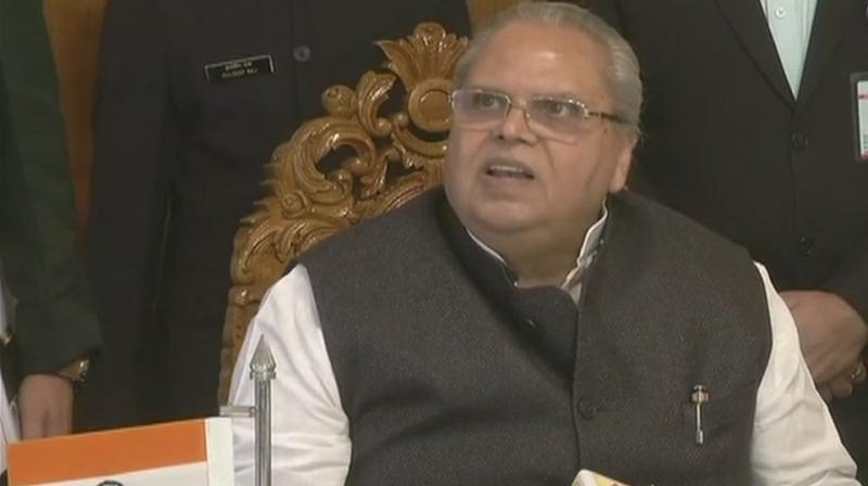 'There is nothing like 'operation all out' and some people are using this wrong term. We want these children (militants) to come back and we are ready to do what we can do for them,' J&K Guv Satya Pal Malik said. (Photo: ANI | Twitter)