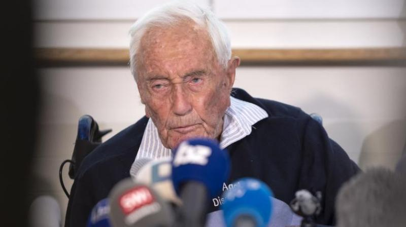 104-year-old Australian scientist David Goodall speaks during a press conference a day before his assisted suicide in Basel, Switzerland, on Wednesday, May 9, 2018. (Photo: AP)