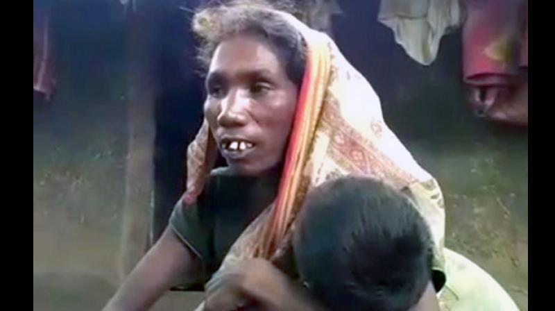 The family was struck off from government welfare rolls for not linking their ration card with the Aadhaar card. (Photo: ANI | Twitter)
