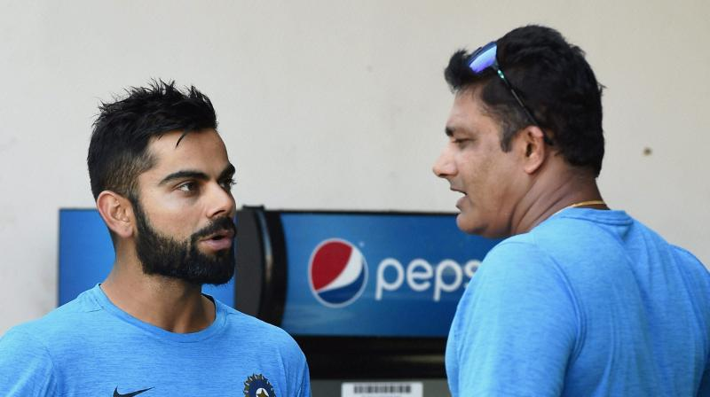 """I cannot see any smoke at all,"" said BCCI acting secretary Amitabh Chaudhary in London when asked about rifts between Team India captain Virat Kohli and coach Anil Kumble. (Photo: PTI)"