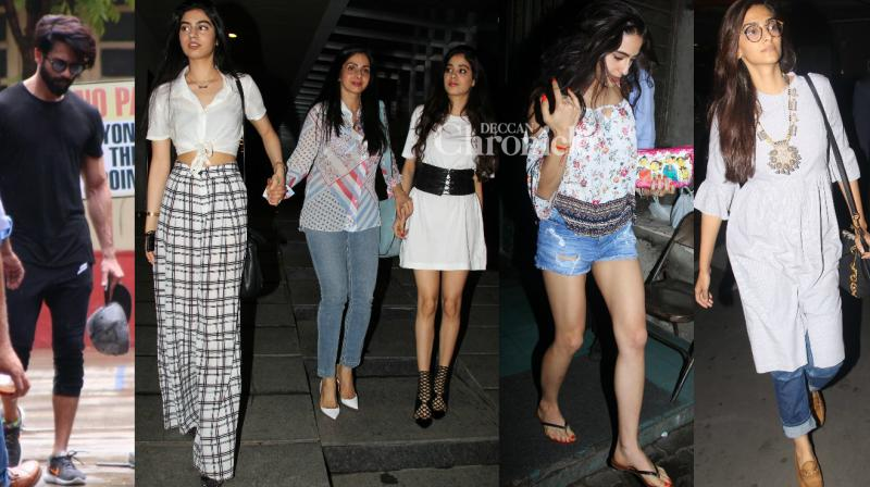 Bollywood stars were spotted by the shutterbugs at various locations in Mumbai as they steppped out for professional and personal commitments on Sunday. (Photo: Viral Bhayani)