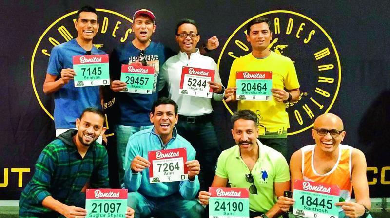 Srinivas Munipalle, Rajesh Bung, Diganta Roy and Shiv Kosgi; Subham Mishra, Amit Kshirsagar, Sunil Nair and Santosh Bhadran.