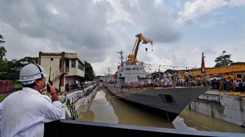 The Indian Navy on Wednesday commissioned a high-tech water jet fast attack craft, 'INS Tihayu. (Photo: PTI/Representational)