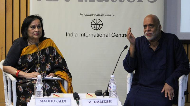 Artist V Ramesh in conversation with author and journalist Madhu Jain
