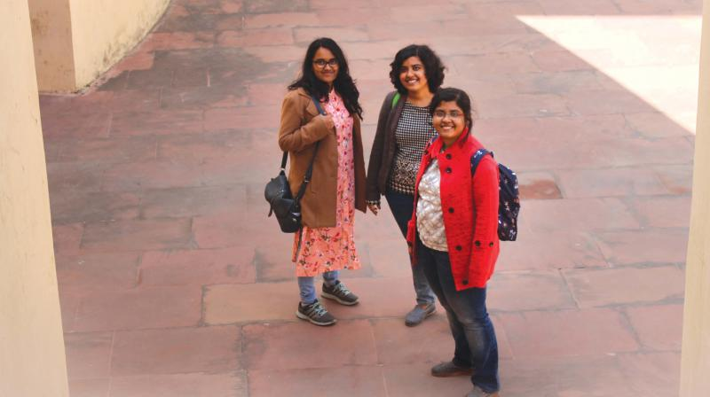 Swathi, Aishwarya, Priyanka. (Photo: Namita Unnmuktaa)