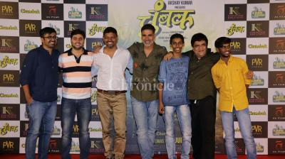 Akshay Kumar, along with the team of 'Chumbak', unveiled the trailer of this Marathi film, which opened at the MAMI Film Festival.