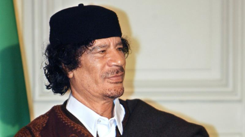 The former Libyan dictator, who was overthrown and killed in 2011, went on to purchase Italian club Perugia after the two parties failed to agree on a price. (Photo: AP)
