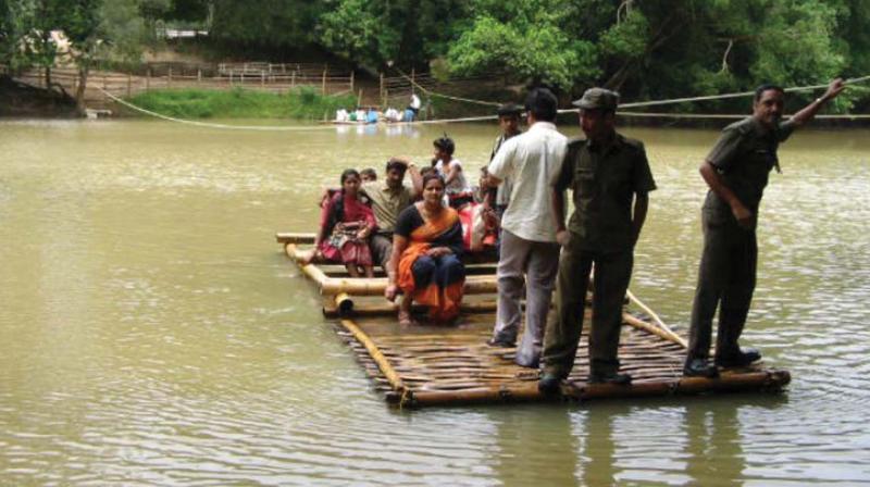 Visitors crossing into the Kuruva Islands. File pic