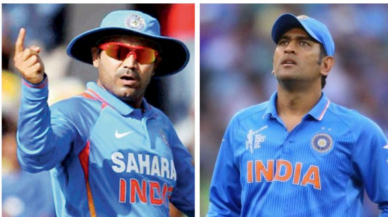 There is intense speculation that Dhoni, who has already retired from the Test format, has played his last ODI following India's semifinal exit from the World Cup. Sehwag feels that retirement is Dhoni's individual call but selectors must speak to him before announcing the West Indies squad. (Photo:AFP)