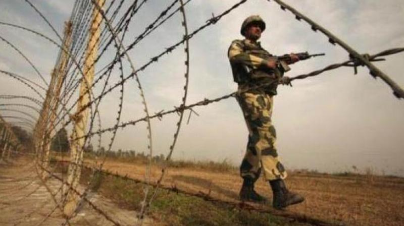 The cross-border shelling by Pakistan troops started in Krishna Ghati sector on Tuesday morning and continued for over two hours, resulting in injuries to five soldiers including an officer, an Army officer said. (Photo: Twitter | ANI)