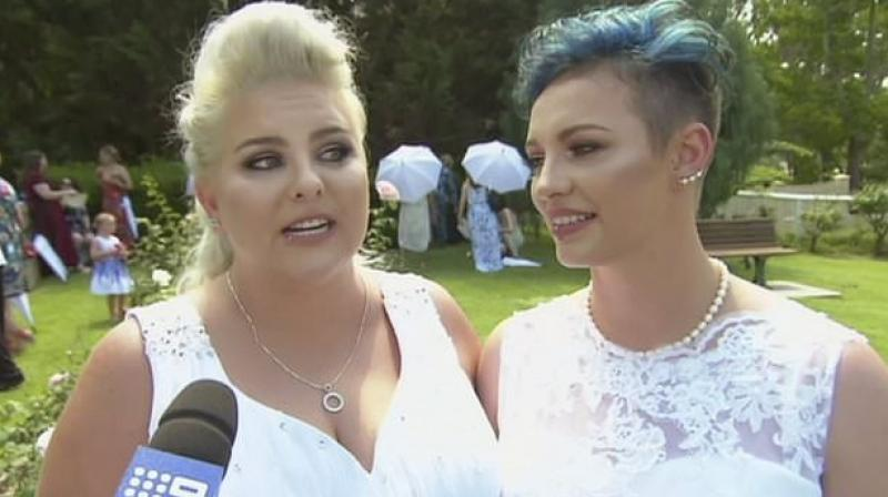 Brides become Australia's first same-sex married couple