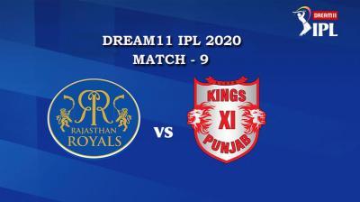 RR VS KXIP Match 9, DREAM11 IPL 2020, T-20 Match