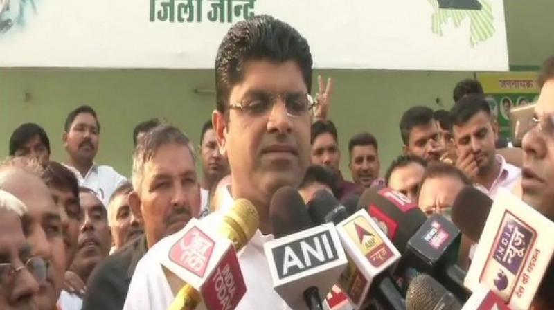 """Asked whether his party will support BJP or Congress, he said, """"Let the result come. We have decided to hold a meeting of MLAs. We will take a decision on this after holding discussions will all of them."""" (Photo: ANI)"""