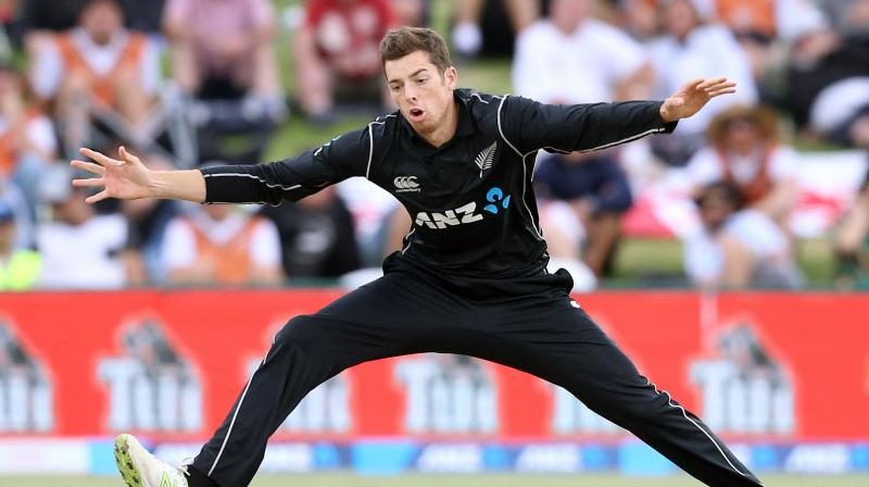Santner bowled two maiden overs and the Indian batsmen were finding it hard to steal runs from his over (Photo: AFP)