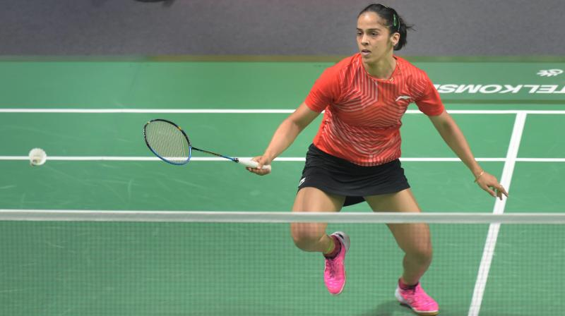 Saina will play second seed Nozomi Okuhara of Japan in the last-eight stage of the first Super 500 tournament of the year on Friday. (Photo: PTI)