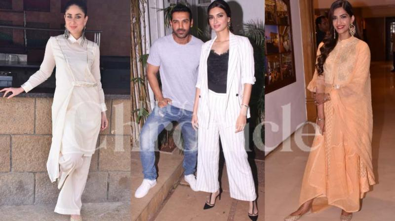After some delay, John Abraham-Diana Penty starrer 'Parmanu' and Kareena-Sonam Kapoor's 'Veere Di Wedding' is all set to release. (Photo: Viral Bhayani)
