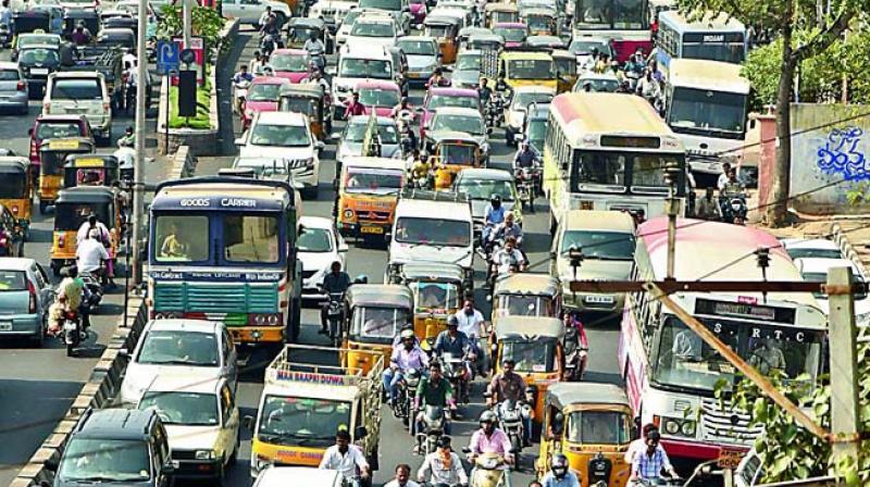 short essay traffic jam
