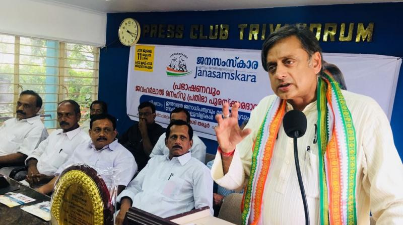Congress leader Shashi Tharoor also said BJP will write a new constitution, making India less tolerant and inclusive. (Photo: Twitter | @ShashiTharoor)