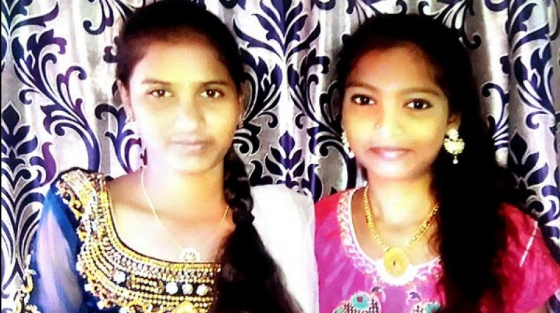 Aakula Sravanthi and Gayathri – who are friends and studying in intermediate in Patancheru Government Junior College had left from their residences at 10 am to the college. (Photo: ANI)