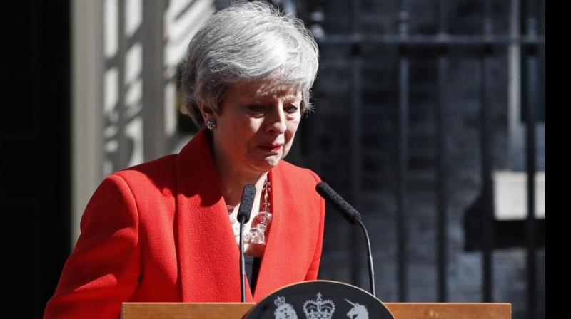 This is May's final important acts as prime minister before resigning on Wednesday. (Photo: File)