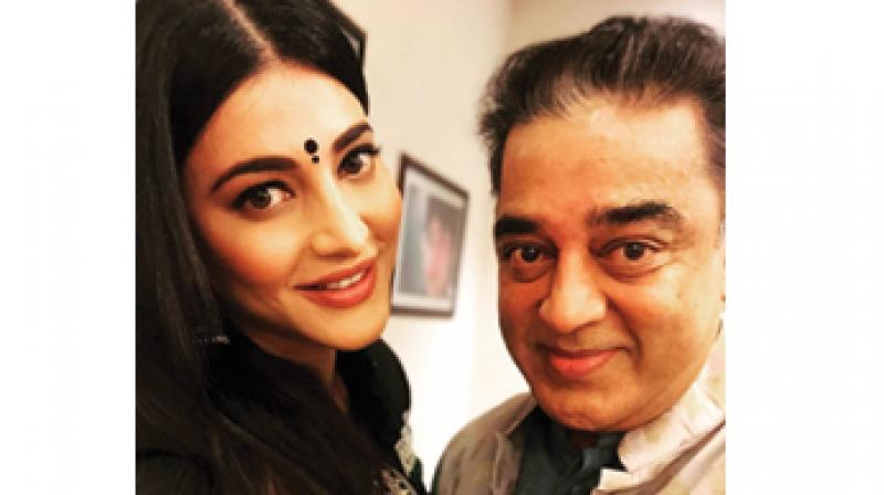Shruti Haasan with father Kamal Haasan