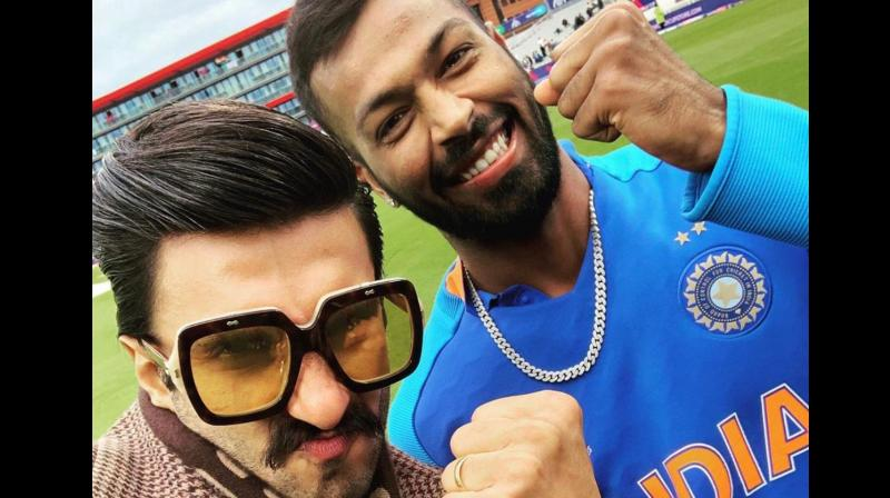 Ranveer used the phrase with a minor change while posting a selfie with Hardik Pandya on Twitter. (Photo: Ranveer Singh/Twitter)